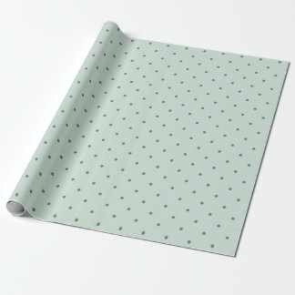 Köstliches grünes Tupfen-Muster auf einem Geschenkpapier