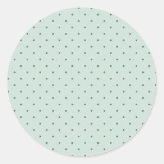 Köstliches grünes Tupfen-Muster auf einem Runder Aufkleber