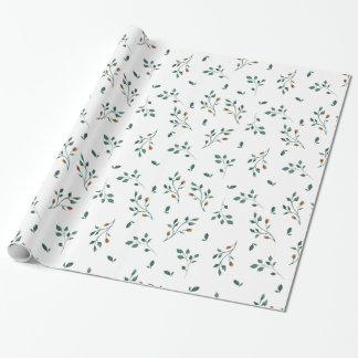 Köstliches weißes grünes Blumenmuster Geschenkpapier