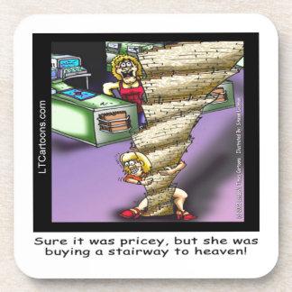 Kostspieliges himmlisches Treppenhaus lustig Untersetzer