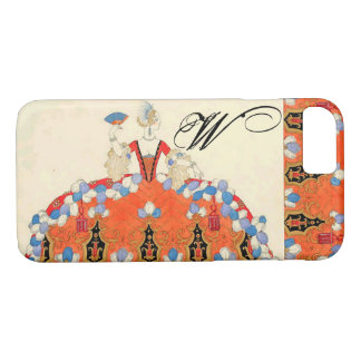 KOSTÜM-DESIGNER-MONOGRAMM DAMEN-ORANGE FASHION iPhone 8/7 HÜLLE