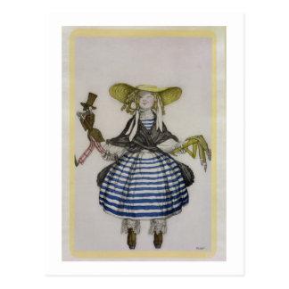 Kostüm für das Marionetten-Mädchen, von der Postkarten