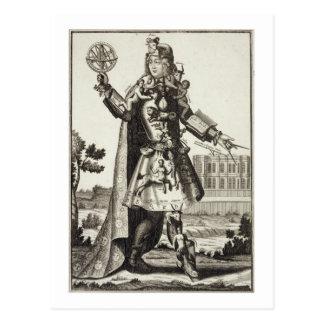 Kostüm für einen Astrologen, Kneipe. durch Gerard Postkarte