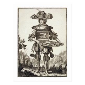Kostüm für einen Gebäck-Koch, Kneipe. durch Gerard Postkarte