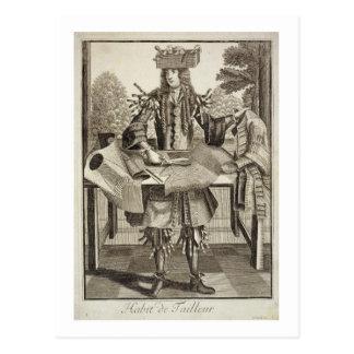 Kostüm für einen Schneider, Kneipe. durch Gerard Postkarte