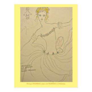 Kostüm für Prinzip Sylphide im Ballett Postkarte