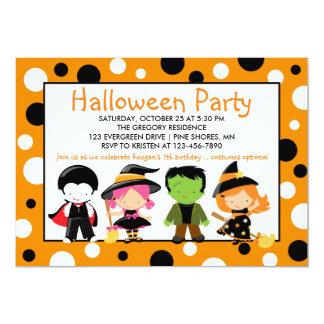 Kostu0026#252;m Halloween Party Einladung Karte