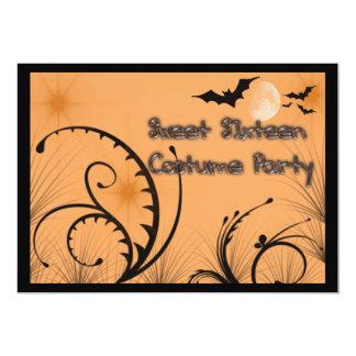 Kostüm-Party Einladung 16. Geburtstag Halloween