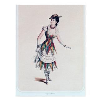 Kostümieren Sie Entwurf für einen weiblichen Postkarte