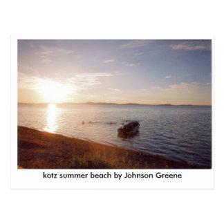KOTZ STRAND (2), kotz Sommerstrand durch Johnson Postkarte