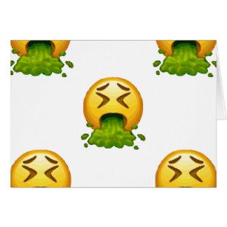 kotzendes emoji karte