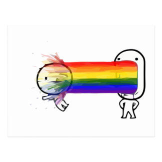 kotzendes Regenbogen meme Postkarte