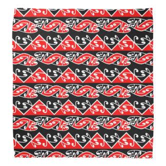Kowhaiwhai traditionelles Maori- Koru Muster Halstuch