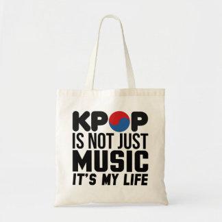 Kpop ist meine Leben-Musik-Slogan-Grafiken Tragetasche
