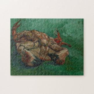 Krabbe auf seiner Rückseite durch Van Gogh Puzzle