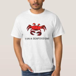 Krabbe bin ich auf einem Meeresfrüchte-Diät-Shirt Hemd