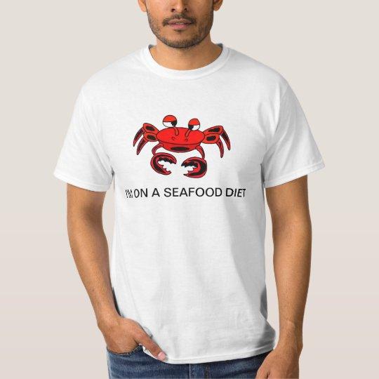 Krabbe bin ich auf einem Meeresfrüchte-Diät-Shirt T-Shirt