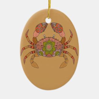 Krabbe Keramik Ornament