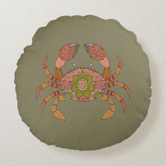 Krabbe Rundes Kissen