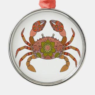 Krabbe Silbernes Ornament