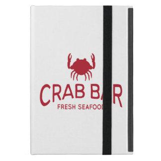 Krabben-Bar-neues Meeresfrüchte-Logo iPad Mini Schutzhülle