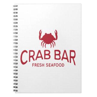 Krabben-Bar-neues Meeresfrüchte-Logo Notizblock