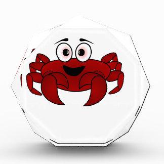 Krabben-Cartoon Acryl Auszeichnung