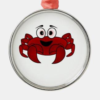 Krabben-Cartoon Silbernes Ornament