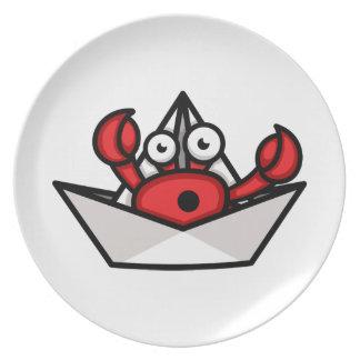 Krabben-Einsiedler Melaminteller