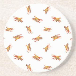 Krabben-Foto-Collagen-Muster-Entwurf Sandstein Untersetzer