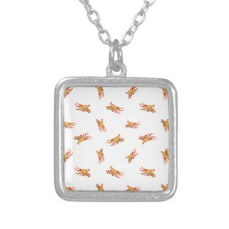 Krabben-Foto-Collagen-Muster-Entwurf Versilberte Kette