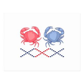 Krabben-Grenze Postkarte
