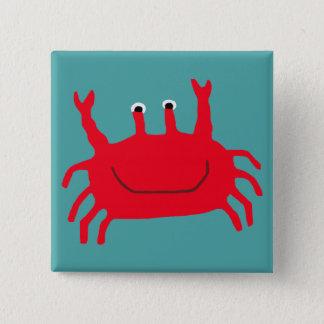 Krabben-Insel Quadratischer Button 5,1 Cm