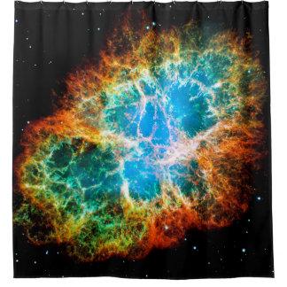 Krabben-Nebelfleck-Supernova-Rest Hubble Raum-Foto Duschvorhang