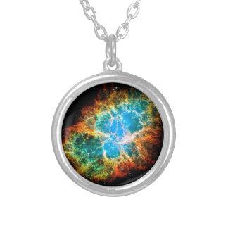 Krabben-Nebelfleck-Supernova-Rest Hubble Raum-Foto Versilberte Kette