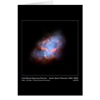 Krabben-Nebelfleck-Supernova-Rest - Spitzer Raum Karte