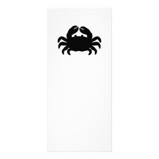 Krabben-Silhouette - Schwarzes Werbekarte