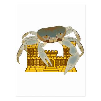Krabben über Schlössern Postkarte