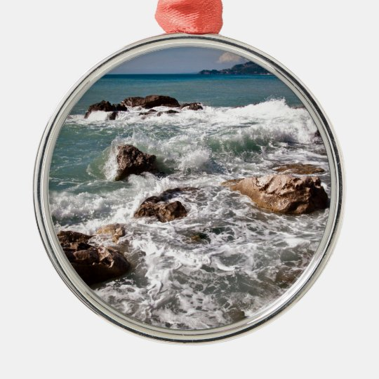 Kraft des Meeres - Insel Sizilien Silbernes Ornament