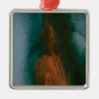 Kraft des Vulkans Silbernes Ornament