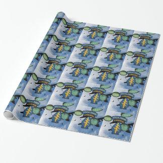Kraft-grüne Barette sf sfg sof-Flecken Geschenkpapier