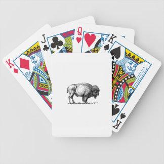 kräftiger Büffelstier Bicycle Spielkarten