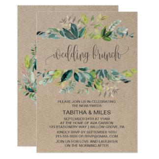 Kraftpapier-Laub-Hochzeits-Brunch 12,7 X 17,8 Cm Einladungskarte