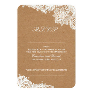 Kraftpapier-Spitze-Hochzeit UAWG Karte