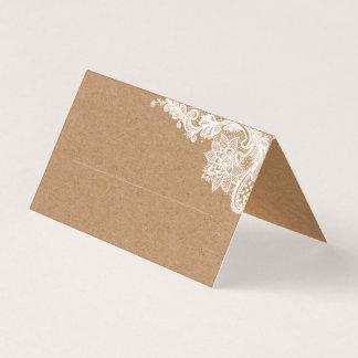 Kraftpapier-Spitze-Platzkarte Platzkarte