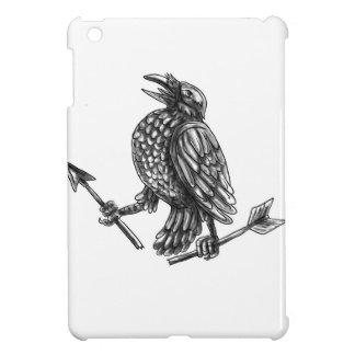 Krähe, die gebrochene Pfeil-Tätowierung erfasst iPad Mini Hülle