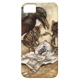 Krähe und Maus iPhone 5 Schutzhüllen