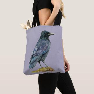Krähen-Aquarell-Malerei Tasche