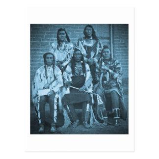 Krähen-indische Leiter 1879 Postkarte