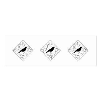 Krähen-und Wirbels-Muster. Schwarzweiss. Mini-Visitenkarten
